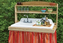 potting bench & outdoor sink ideas