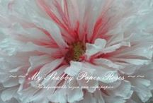 ~~ My Fabulous Flower Art ~~ / ~~ Handmade & Handpainted Crèpepaper Roses ~~  www.facebook.com/www.MyFabulousFlowerArt.nl