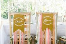 WEDDINGS: Chairs - Ideas & Inspiration / We love great details and whether or not you use chairs for all your guests or just for the bride and groom.