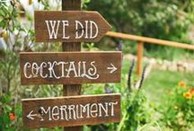 WEDDINGS: SIGNS-Ideas & Inspiration / We love the creative use of signs at weddings! They serve their practical purpose and help create a vision for your special day.