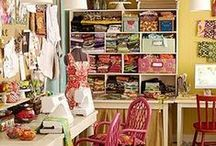Creative Spaces / Home Craft Rooms and Creative Office Spaces