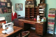 Vintage Scrapbooking & Craft Rooms / These are rooms, things, or ideas that I love and wish I had or plan to have - someday! / by Junky Mama