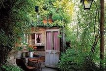 Secret Garden / My fantasy garden looks just like this. Come on over for tea!