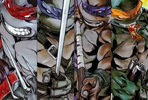 TMNT / Teenage Mutant Ninja Turtles / Home to the Heroes in a Half Shell (and friend Usagi Yojimbo), and all their friends/allies, as well as the Krang, Shredder and the Evil Foot Ninja. / by ABH1979