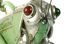 Animals Found Object Robot Assemblages