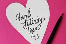 Lettering / Chalkboard and Handlettering Inspiration