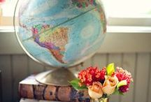 Maps and Globes / A collection of images featuring maps and globes. Because geography and travel is cool.