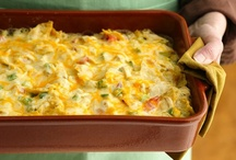 Casserole Madness / casseroles, main dish bakes and pies...  I love to layer my food! Preheat, dump all the food in a dish and stick it in the oven! / by Rebecca Hoffman
