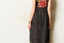 Maxi-ing and Relaxing / maxi dresses, especially vintage