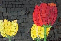 MOSAIC ART- Flowers / by Cyndi Gilstrap McDonnough