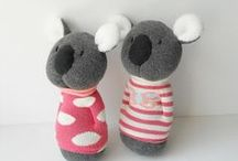 Soft Toys: Sock Toys / Dolls and animals made from.... socks!!!!