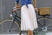 Bicycle Chic / You can't be sad while riding a bicycle, especially in a cute outfit.