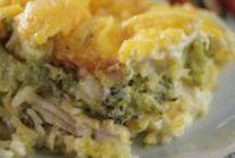 Casseroles / Dinner casseroles to make meals easier.