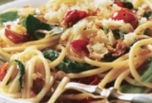 Dinner entrees / proteins, pasta, quick and easy, delicious, healthy and not so healthy, mostly easy meals / by Sandy Moyer