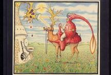 """CODEX Seraphinianus / The Codex Seraphinianus was written and illustrated by Italian graphic designer and architect, Luigi Serafini during the late 1970′s. The Codex is a lavishly produced book that purports to be an encyclopedia for an imaginary world in a parallel universe, with copious comments in an incomprehensible language.  It took him 30 month to complete """"the strangest book on earth"""". Codex seraphinianus is divided to 11 chapters and two parts - first one is about nature and the second one is about people."""