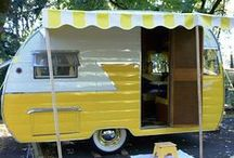 Caravans. / I would love to have a beautiful little caravan to take away for weekends or keep down at the beach. / by Fiona Martin