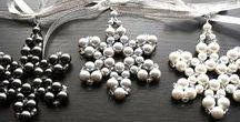 KapKaDesign Suncatchers / Pearl Beaded Snowflake Ornaments Crystal Star Christmas Ornaments Christmas Tree Ornament Christmas Decoration Christmas Gift by KapKaDesign on Etsy
