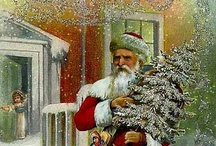 vintage christmas cards and postcards / by Angela Phillips