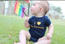 Swag for Babies / Rainbow clothing & pride accessories for same-sex baby showers and gifts.