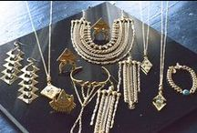 Flea Market Girl Jewelry / Flea Market Girl jewelry pieces combine raw minerals, semi precious stones, bronze, leather, and brass metal.