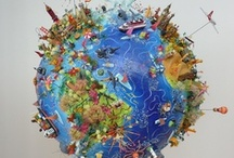 MAPS/ GLOBES/ FLAGS / LET'S TRAVEL SOMEWHERE, ANYWHERE!   LOVED GEOGRAPHY AS A KID, &  STILL DO TODAY! / by Paula Wedger