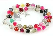 Jewelry: Awareness Bracelets / Elegant designs in gorgeous gemstones and Swarovski Crystals by Crystal Allure Beaded Jewelry Creations: http://www.crystalallure.com. #awarenessbracelets #crystalallure #beadedbracelets
