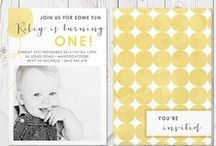 Kids Birthday Invitations / Oh what fun a party can be! - Modern invitations and fun party ideas for throwing that special party for your little one. Commercially printed on luxe cardstock in Australia by Peach Perfect, double sided and with free colour changes!