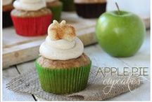 Apple Cupcakes by Cupcake Project Pinterest Explorers / Granny Smith, Fuji, Gala, Red Delicious, etc. all baked in, around and on a cupcake.  This board is curated by the Cupcake Project Pinterest Explorers. Learn how to join here: http://www.cupcakeproject.com/join-the-pinterest-explorers. Our mission is to scout, pin, and share cupcake fun! / by Cupcake Project