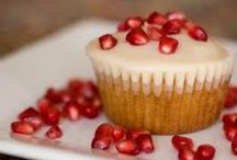 Pomegranate Cupcakes by Cupcake Project Pinterest Explorers / Sweet and tangy little fruits pack big cupcake flavor.  This board is curated by the Cupcake Project Pinterest Explorers. Learn how to join here: http://www.cupcakeproject.com/join-the-pinterest-explorers. Our mission is to scout, pin, and share cupcake fun!  / by Cupcake Project