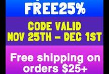 Black Friday Coupons  / Coupon Codes for your Holiday Season
