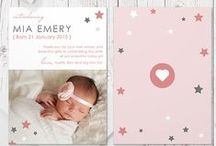 Birth Announcements for LITTLE GIRLS / Absolutely exquisite! Printed on 350gsm Signature matt card, our double sided cards are hugely popular and so totally affordable.