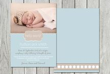 Birth Announcements for LITTLE BOYS / Absolutely exquisite! Printed on our Signature Matt 350gsm cardstock, our double sided cards are hugely popular and so totally affordable.