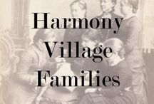 Harmony Village Families / Families living in the King Street and Harmony Road area of Oshawa from 1775-1875;  Broken Front, as well as,  Concessions 1 and 2, Lots 4, 5 and 6 of East Whitby Township, in the County of Ontario.
