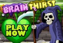 """Mobile game """"Brain Thirst"""" / BRAIN THIRST - Mobile games is Available Now on Amazon, Android & iPhone  Beat the Ax-men. Eat the brains to stop your BRAIN THIRST. Tip: Don't Eat the Food unless it's Candy!"""