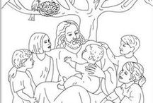 R.E.: Coloring pages / by Joyce Hollowell
