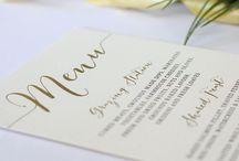Menus / Printed both sides on luxurious cardstock in Australia!
