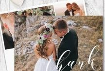 Wedding Thank You cards / Designed and printed by Peach Perfect Australia, our double sided wedding thank you cards are a mix of photo and non-photo designs. Your choice of wording and commercially printed on luxurious cardstock.