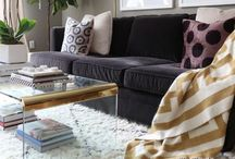 living room decor / What goes with my dark gray couch?