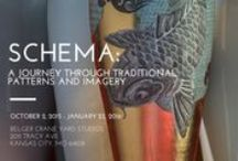 """SCHEMA: A Journey Through Traditional Patterns and Imagery / I am very excited to announce the date for the opening reception of my new exhibition """"Schema: A Journey Through Traditional Patterns and Imagery"""" at Belger Crane Yard Studios, 2011 Tracy Ave, Kansas City, MO 64108 on Friday, October 2nd from 6pm – 9pm. I will have more than 50 pieces on display featuring traditional and contemporary imagery and patterns; all delicately China painted and wonderfully decorated with gold and flock."""