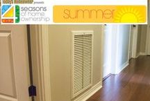 """4 Seasons of Home Ownership: Summer / We've put together a list of tasks that every homeowner should tackle during the year to keep their homes in top shape. Includes """"must do"""" items, as well as some additional projects to take on as time and budget allow or if you want to do a little something extra. Time to make summer count!"""