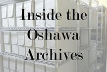 Inside the Oshawa Archives / Since 1957, the Oshawa Archives has been acquiring and preserving for the public, records that trace Oshawa's rich history from its earliest settlement. The archival collection of the Oshawa Museum is housed inside Guy House, and it is open by appointments
