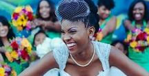 Coiffures mariage cheveux crépus / Inspirations coiffures pour être belle avec ses cheveux crépus le jour de son mariage