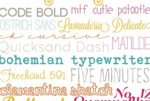 for fonts and printables / by Emma Steendam