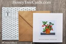 Art Cards and Greetings Cards from HoneyTree / Choose from one of our exclusive designs and personalise the front and inside of your card, printed on archival board with 120gsm brown kraft paper envelope. Order before 12noon for same day shipping (62p) UK Only.  #CreateABuzz with unique, personalised, premium quality stationery that leaves a lasting impression. All orders are produced at our Somerset studios located within the grounds of the Glastonbury festival site.