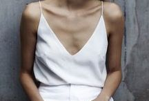 Whites / Simple and elegant. You can never go wrong with sharp tailoring and whites