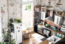 Kitchen inspiration / Images to inspire my workspace/studio.