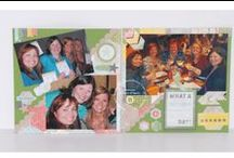 Bonnie's 6x6 Scrapbook Pages  / pages made from Stampin' Up! Simply Scrappin Kits and Accent Kits