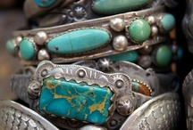 Jewerly / For me, Turquoise has a rather raw, earthly feel...and  the colors and the matrix in Turquoise varies so much from one Turquoise Mine to another. No two pieces are ever alike. / by Deanna Rohrer