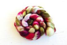 Pigeonroof Studios Spinning Fiber / Lovely handdyed spinning fiber from Pigeonroof Studios! Make some beautiful handspun yarn.