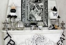 Halloween ~ Black & White w/ a touch of Silver